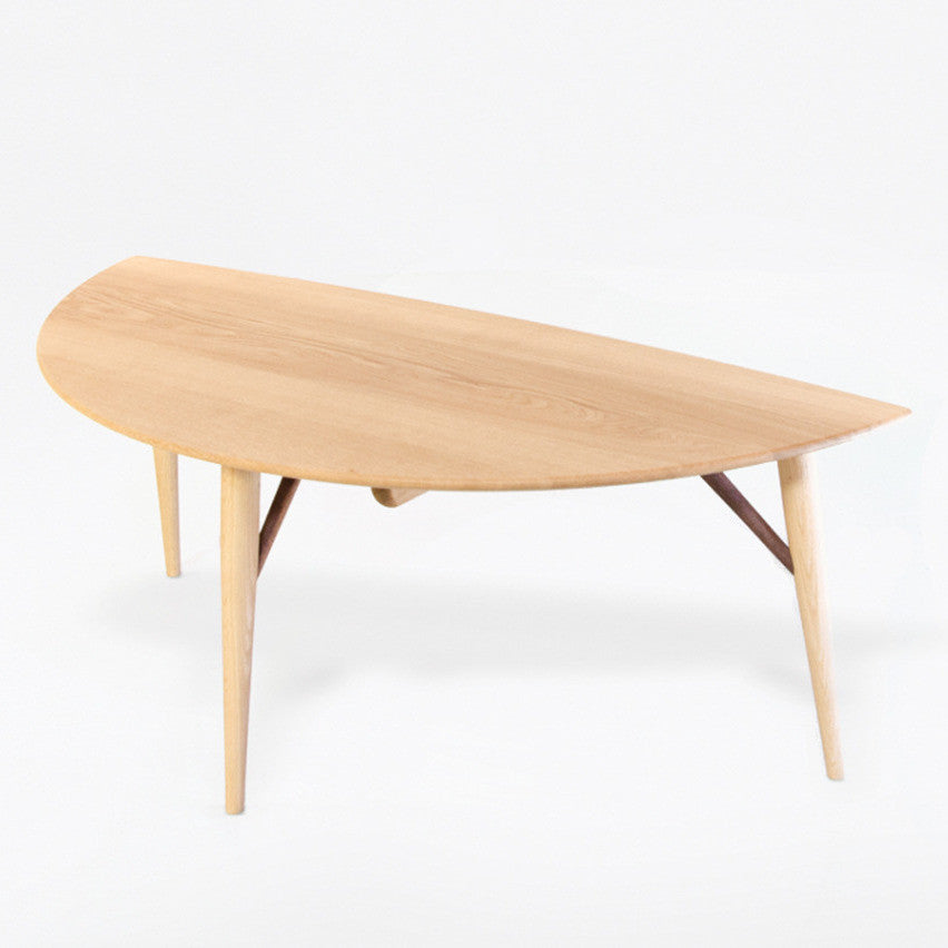 White Wood Leaf Table - Coffee Table - Nissin