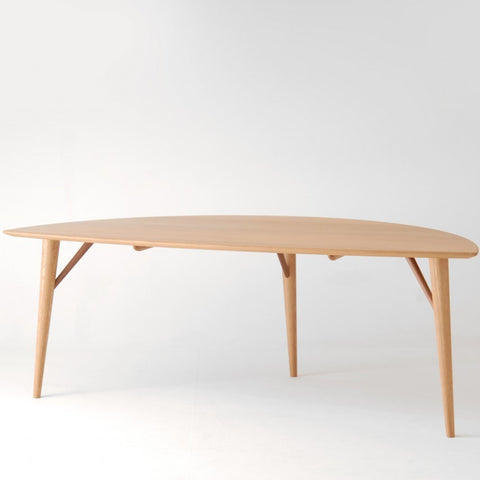 Nissin - White Wood Leaf Table - Coffee Table