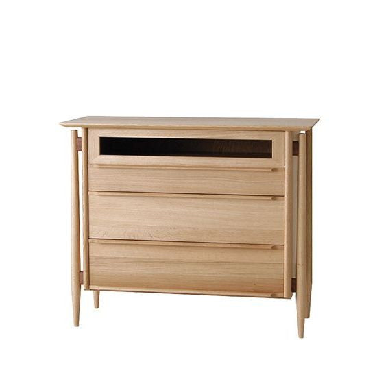 White Wood Living Chest - Cabinet - Nissin
