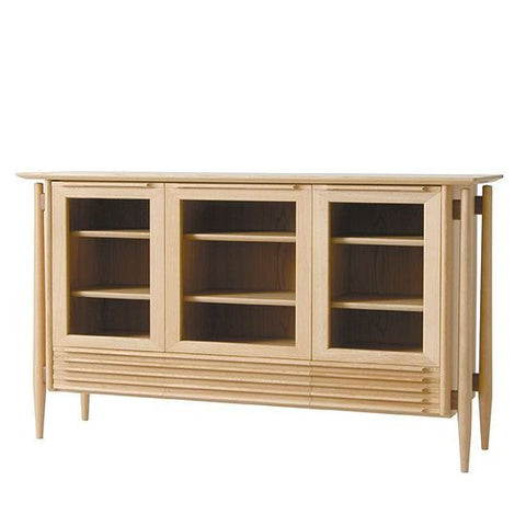 White Wood Sideboard - Cabinet - Nissin