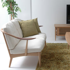 White Wood Sofa 2P