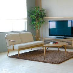 Nissin - White Wood Sofa 3P - Sofa