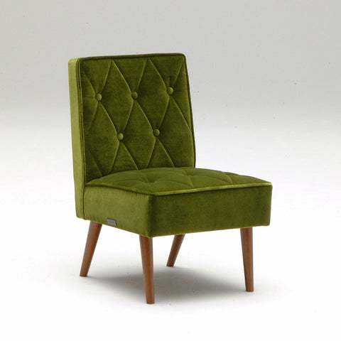 Karimoku60 - cafe chair moquette green - Dining Chair