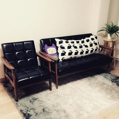 Karimoku60 - k chair two seater standard black - Sofa