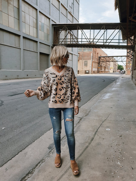 LYDDY Ballon Knit - Leopard