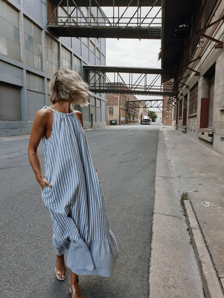 WYNTER Stripe Maxi Dress