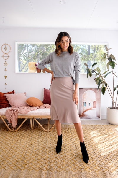 ANNIE Lightweight Knit - Grey