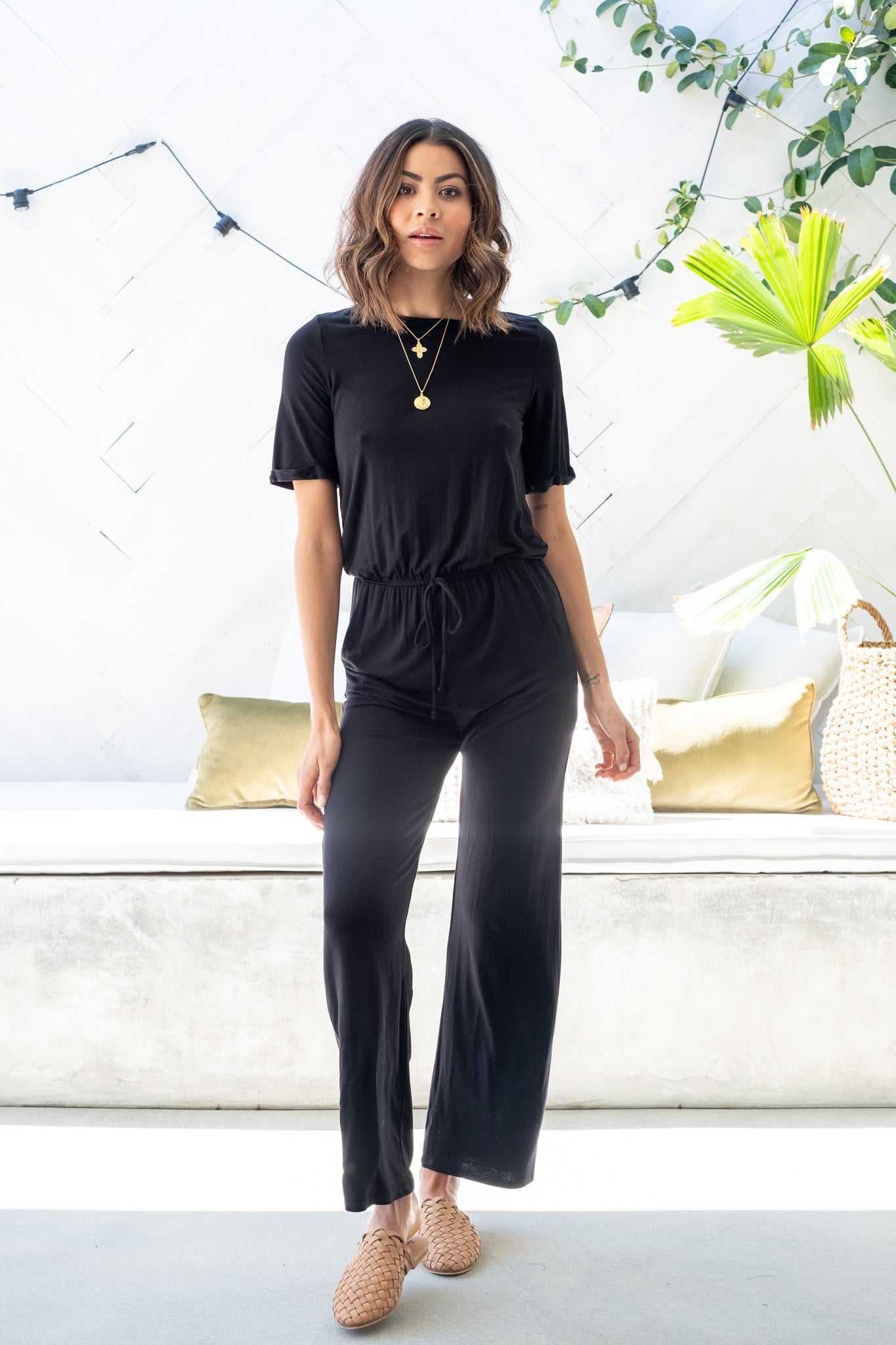 LEYLA Pocketed Jumpsuit - Black