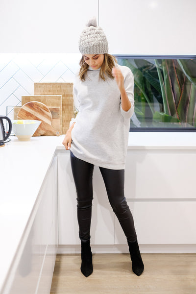 ROSIE Ribbed Knit – Grey