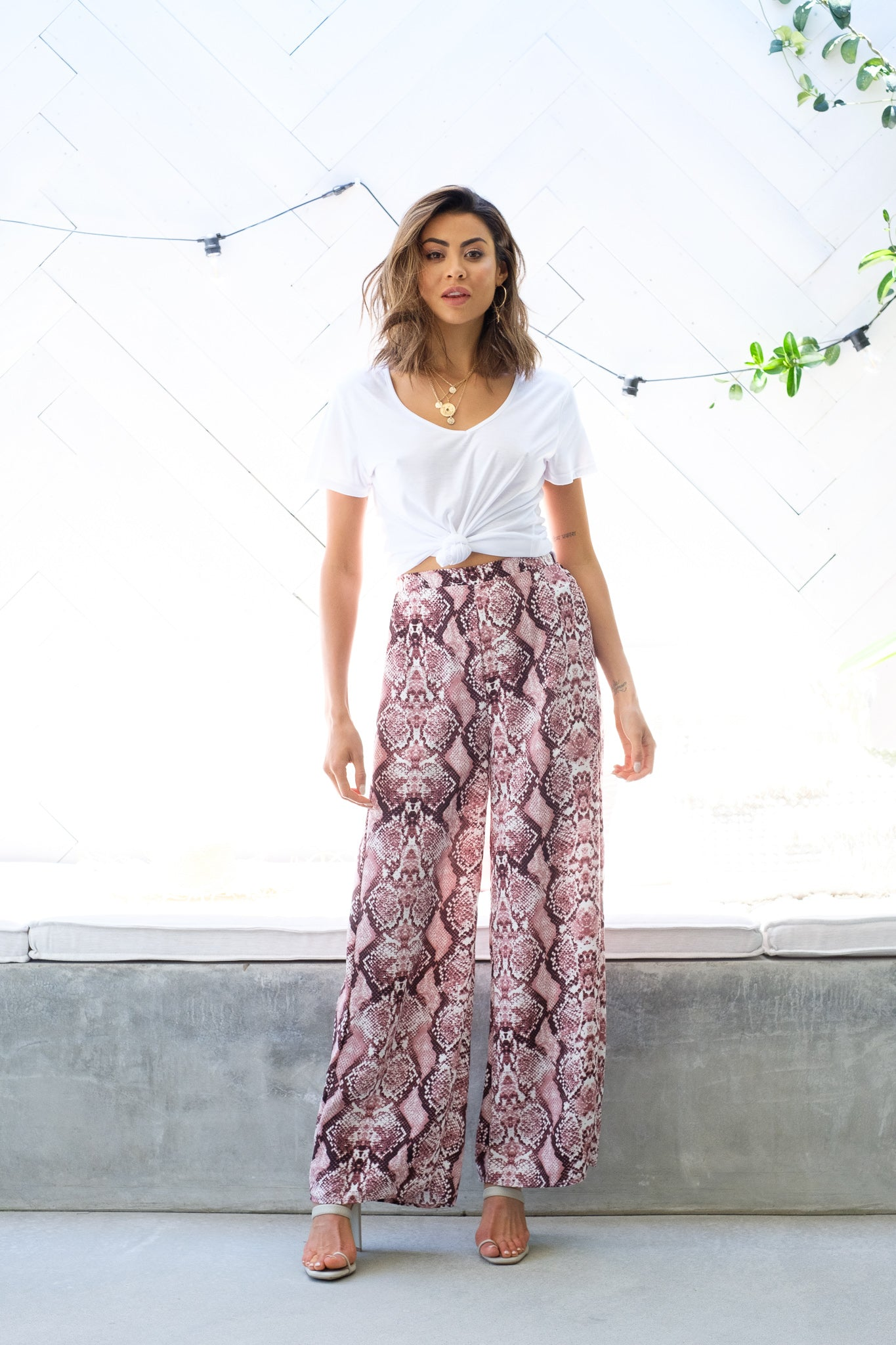 ZADIE Snake Skin Pants - Pink Out With Audrey