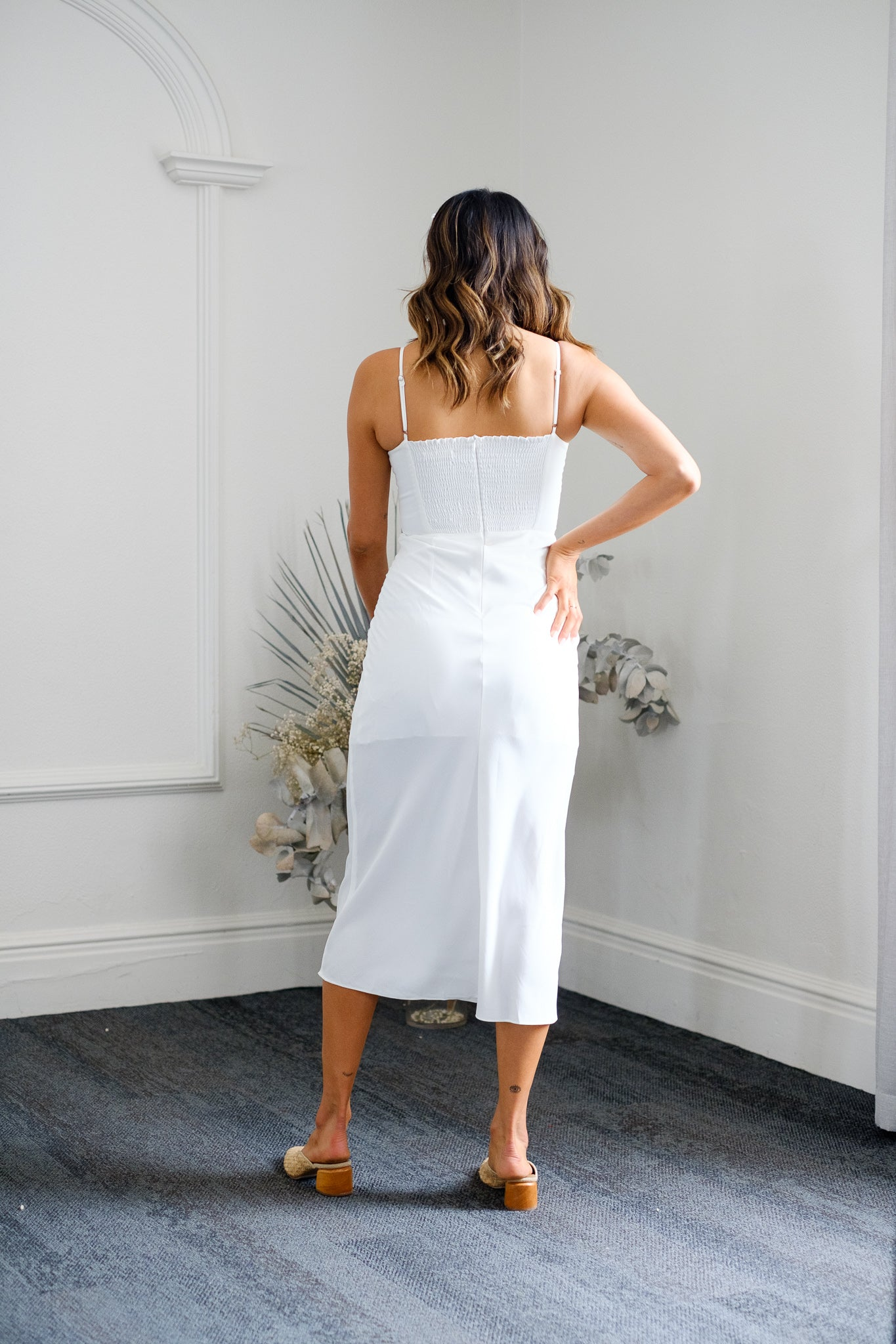 LISIANA Midi Dress - White