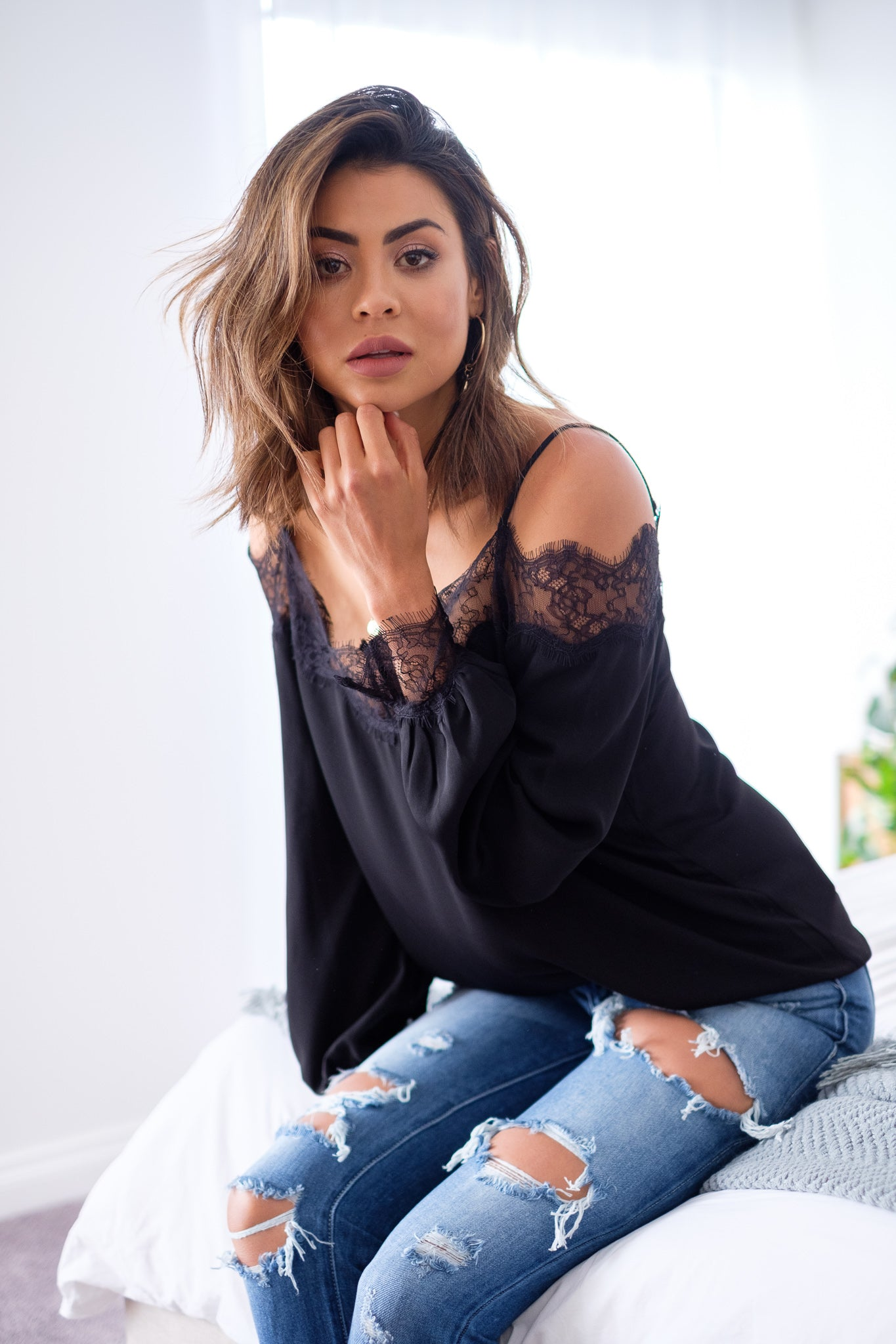 GRACE Lace Top - Black