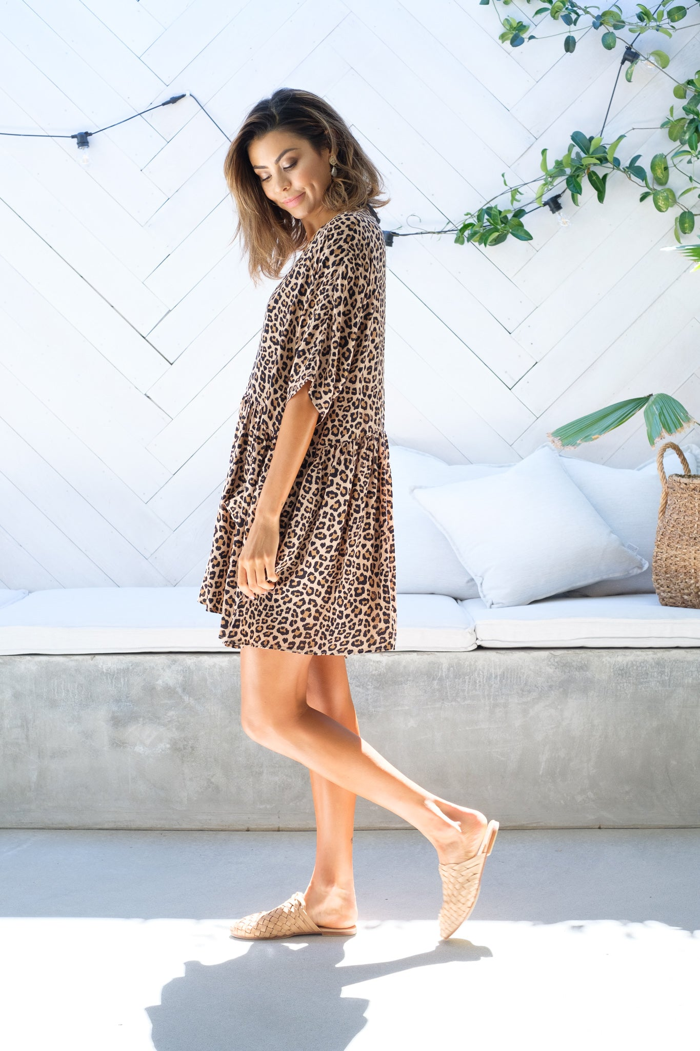 REAGHAN Leopard Print Tunic Out With Audrey
