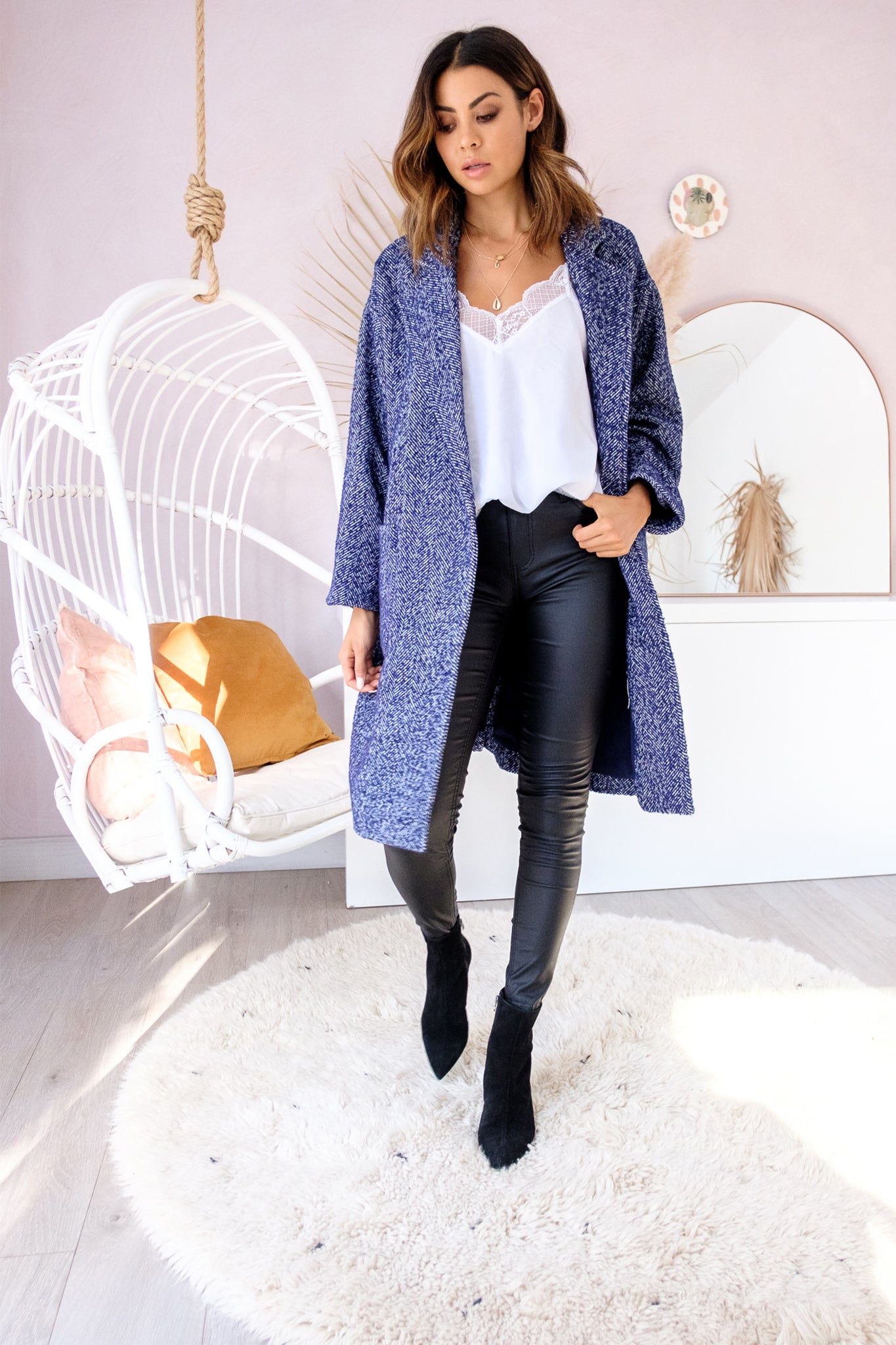 MAVERICK Navy Coat - Navy
