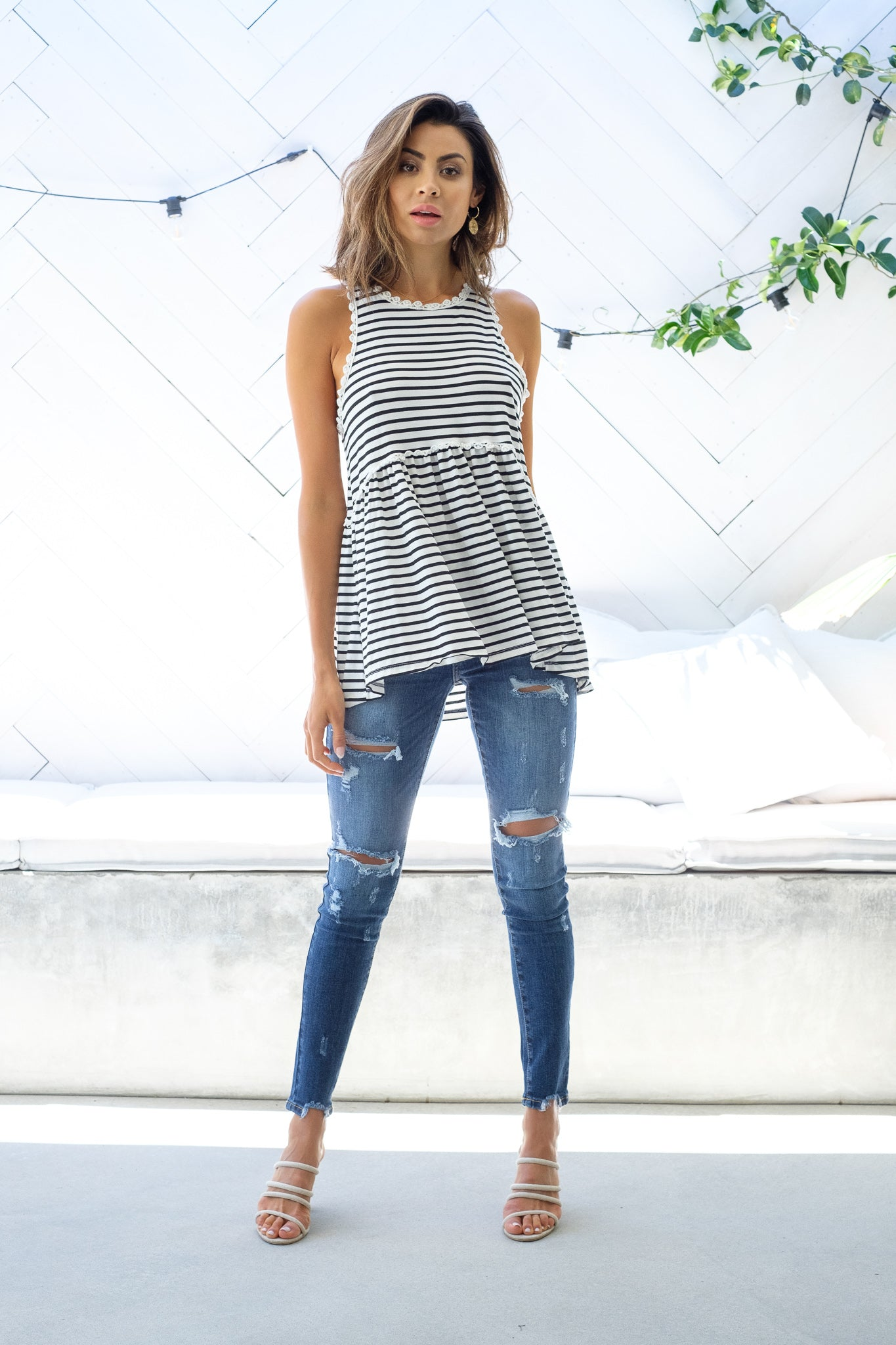 RENI Top - Stripe Out With Audrey