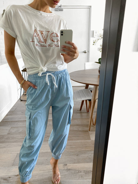 AVE Embroidered Tee - White