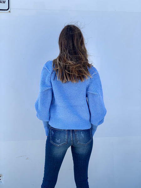 ALIYAH Knit - Cornflower Blue