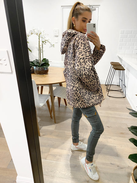 MAX Hooded Leopard Parka