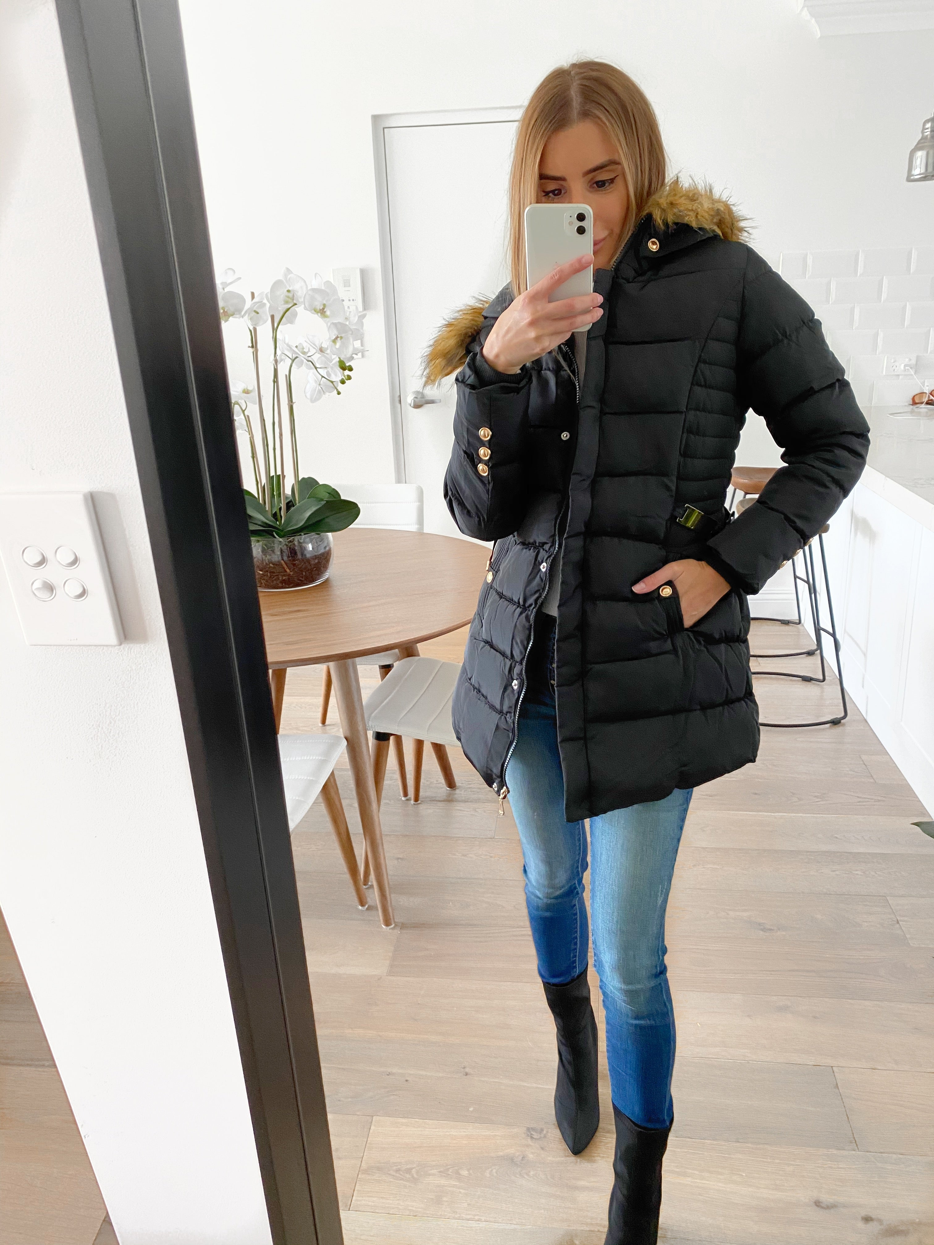 GUILIA Hooded Puffer Jacket