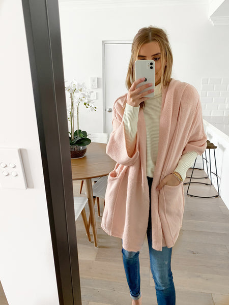 HUXLEY Wide Sleeve Cardy - Blush