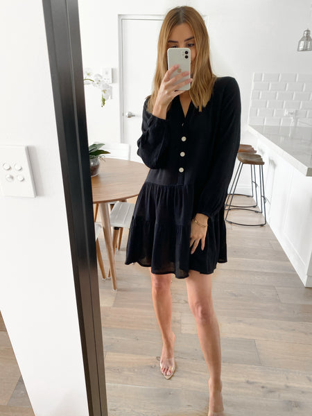 OPRAH Tunic Dress - Black