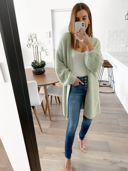 NELSON Fluffy Cardy - Mint