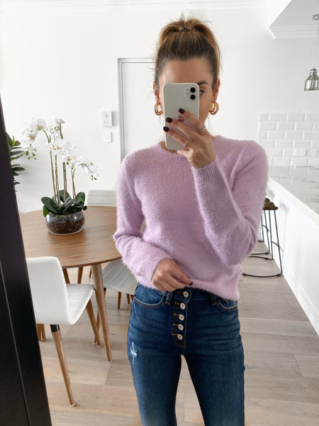 JARRAH Fluffy Knit - Lilac