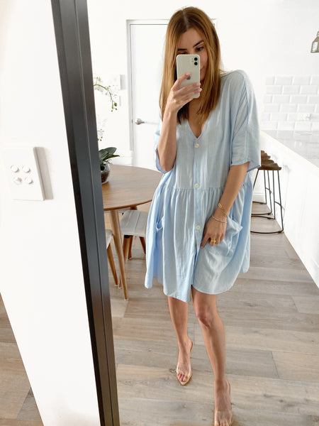 DJ Tunic Dress - Sky