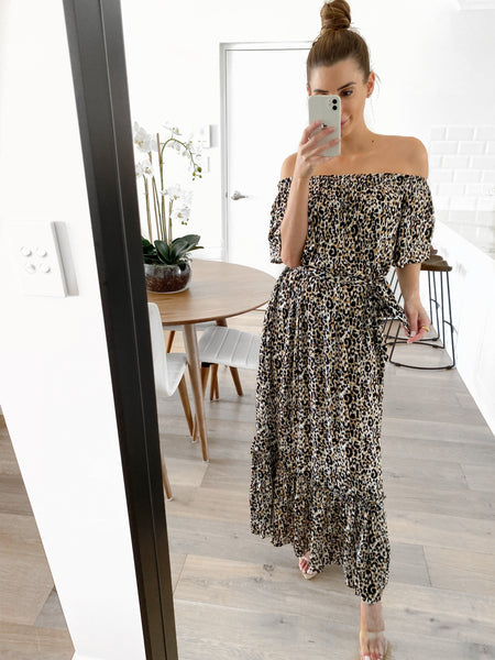 BIANCA Maxi Dress - Leopard