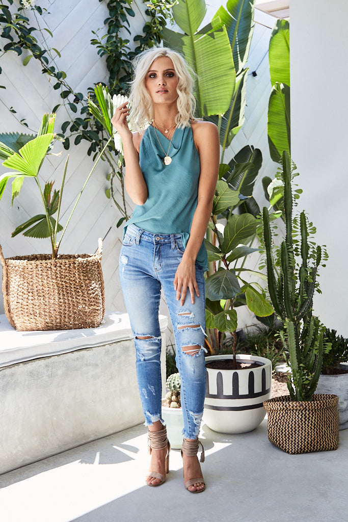 HOPE Distressed Denim Jeans