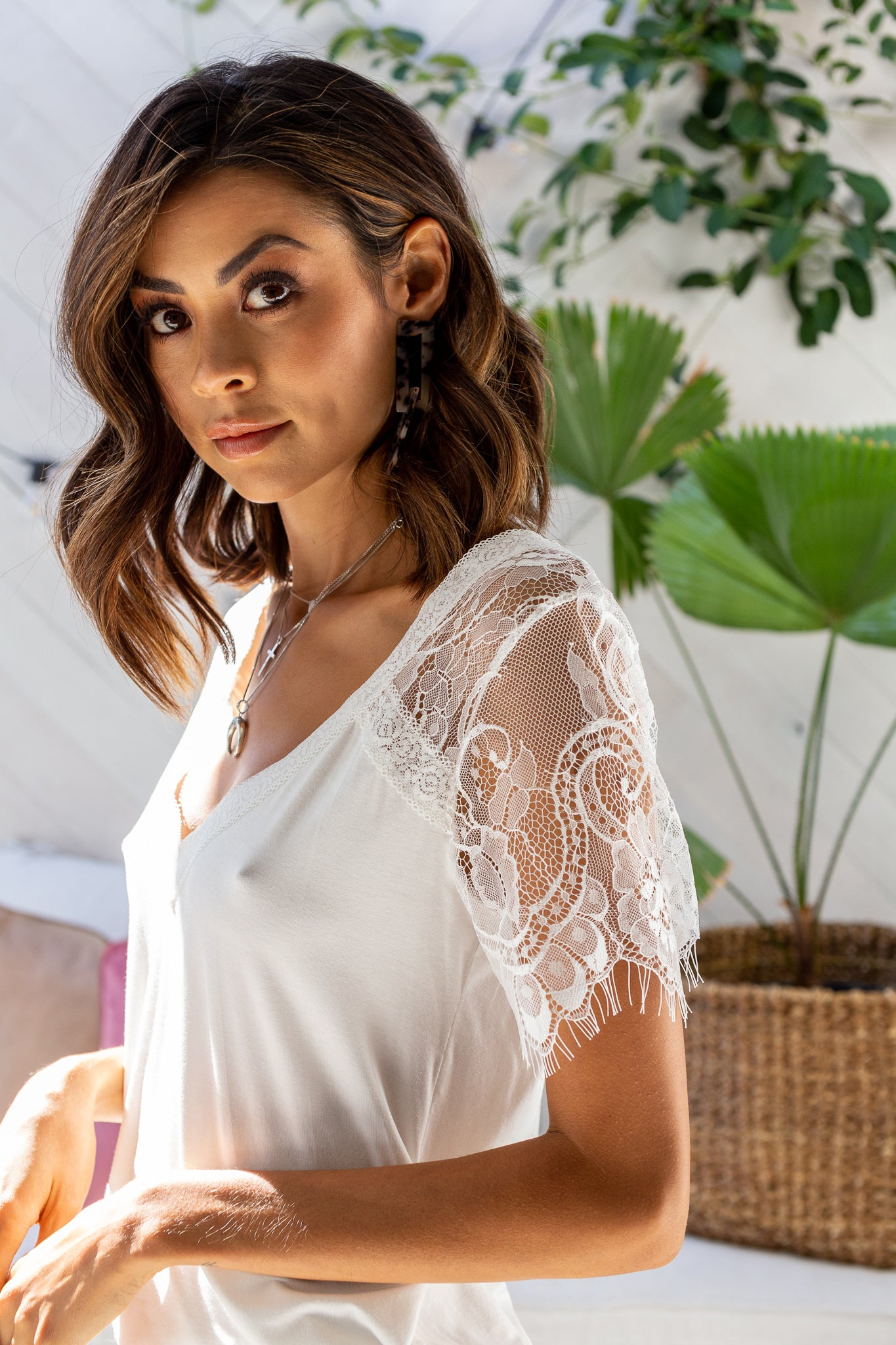 HOLLY Lace Top - White (Pre-order)