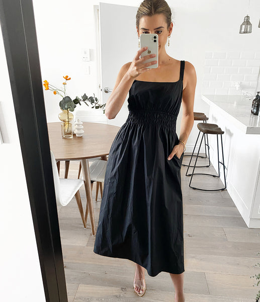 HALO Backless Midi - Black