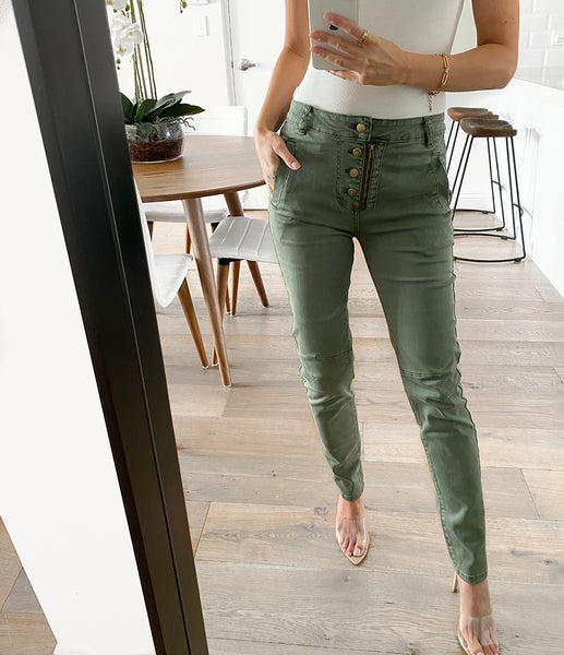CARMEN Buttoned Skinny Joggers