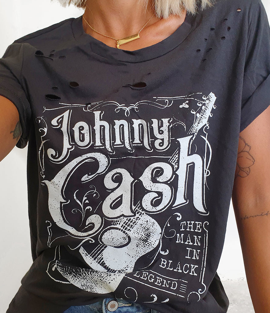 The CASH Distressed Tee (Pre-order)