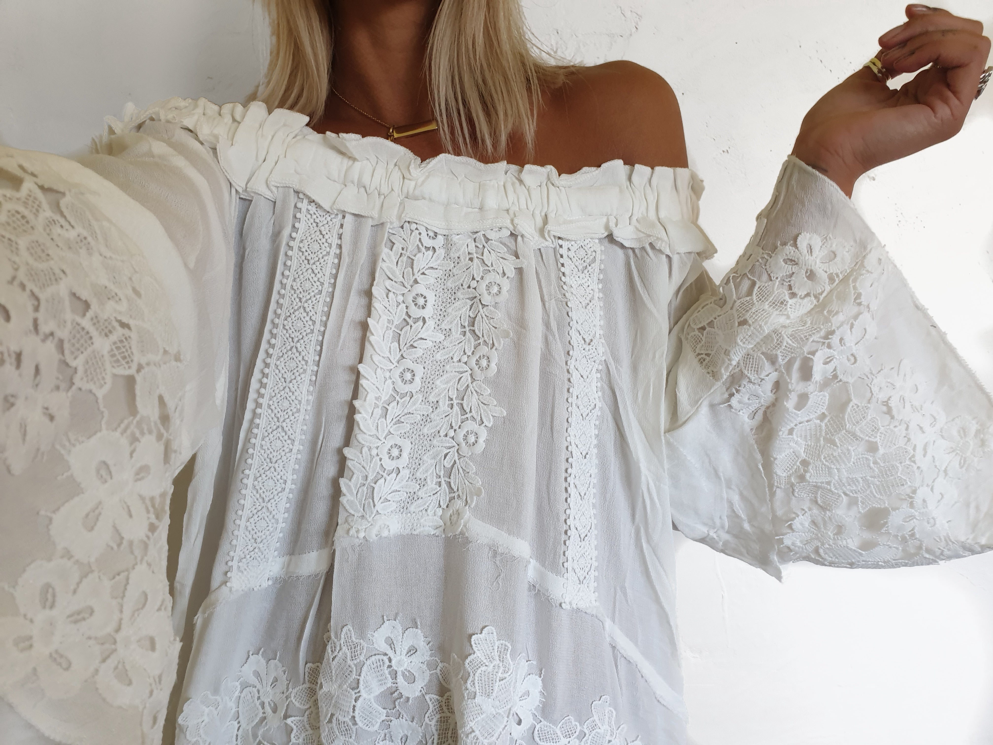 ROMME Lace Tunic - White