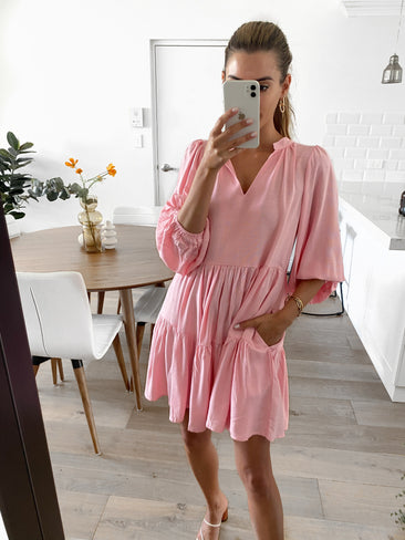 CARO Tunic Dress - Bubblegum (Pre-order)