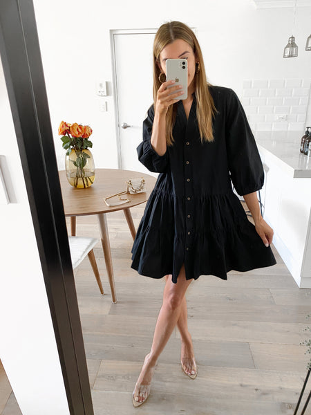 RACHEL Tunic Dress - Black