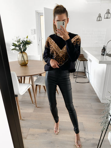 MARGOT Chevron Sequin Knit (Pre-order)