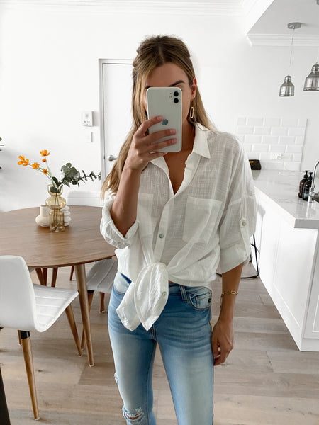 AMIE Button Up - Off White