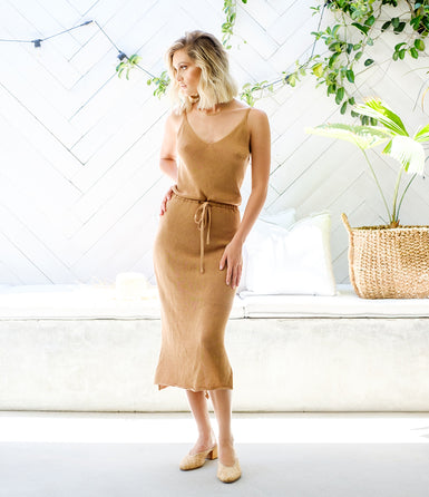 STEFFY Knit Dress - Tan