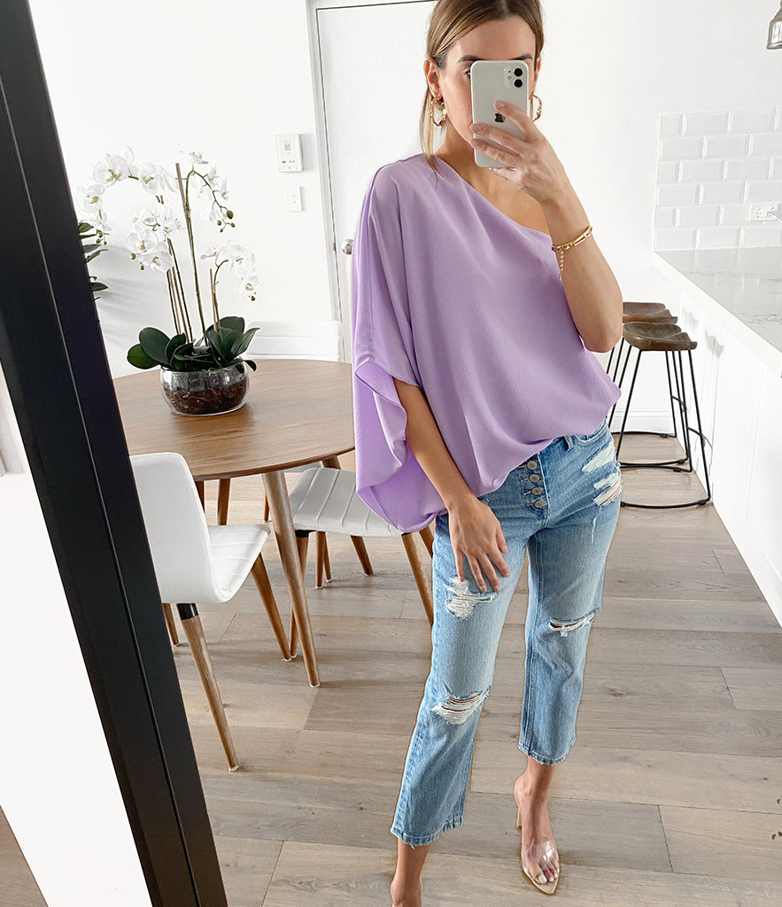 MARSDEN One Shoulder Top - Lavender