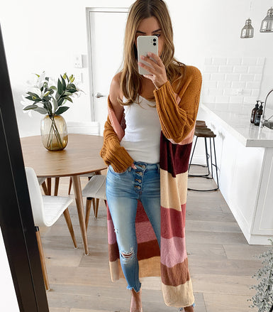 CHARLOTTE Colourblock Cardy