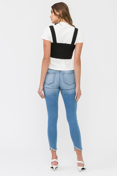 NEVADA Buttoned Ankle Skinny Jeans (Pre-order)