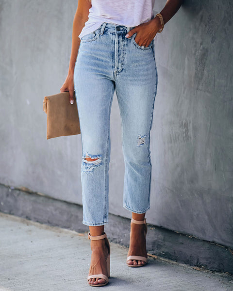 ONTARIO Distressed High Rise Jeans