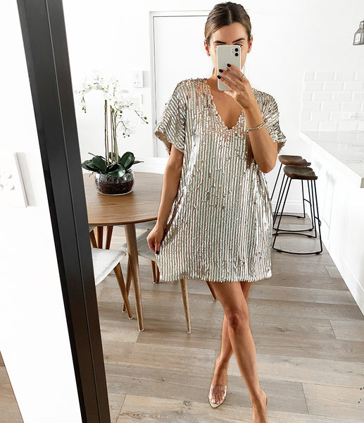 TILLY  Sequin Tunic Dress