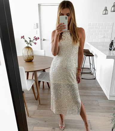 TILLY Sequin Midi Dress