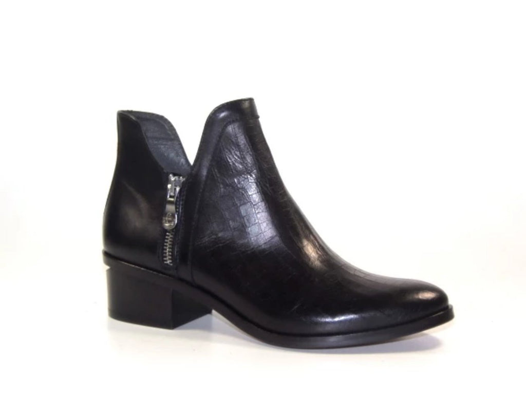 Kanna Bone Leather Ankle Boots - Black- K19650