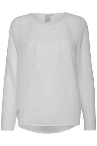 ICHI Ellie Blouse - White