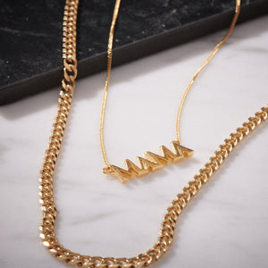 RACHEL JACKSON-ART DECO MAMA NECKLACE - GOLD