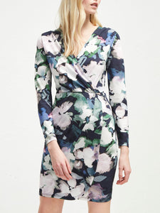 French Connection Frith Sheen Jersey Wrap Dress